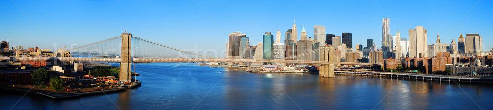 ニューヨーク市 スカイライン パノラマ マンハッタン 橋 高層ビル ストックフォト © rabbit75_sto