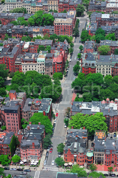 Stock photo: Boston Street aerial view