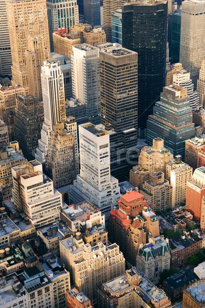 Manhattan légi sziluett New York panoráma kilátás Stock fotó © rabbit75_sto