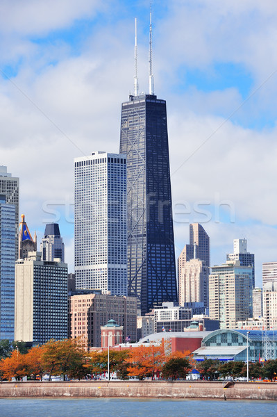 Chicago şehir kentsel ufuk çizgisi gökdelenler göl Stok fotoğraf © rabbit75_sto
