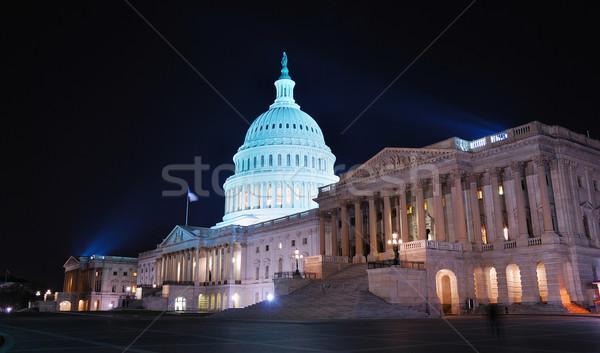 Stok fotoğraf: Washington · DC · tepe · Bina · gece · ışık