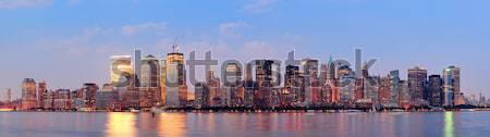 New York City noite panorama manhattan linha do horizonte rio Foto stock © rabbit75_sto