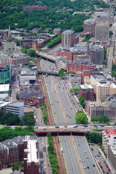 Boston stad luchtfoto stedelijke gebouwen hemel Stockfoto © rabbit75_sto