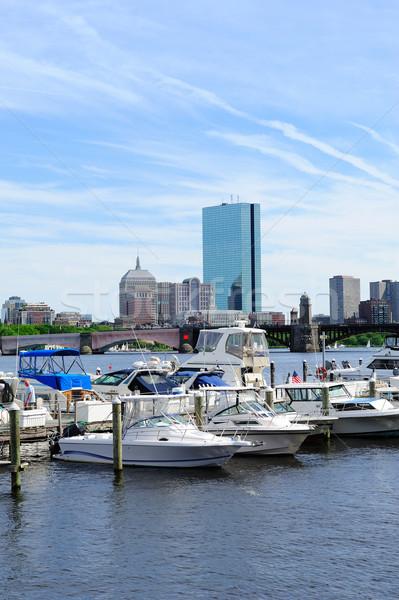 Boston rivier stedelijke gebouw boot Stockfoto © rabbit75_sto