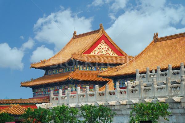Tiltott város Peking Kína építészet város kínai Stock fotó © rabbit75_sto
