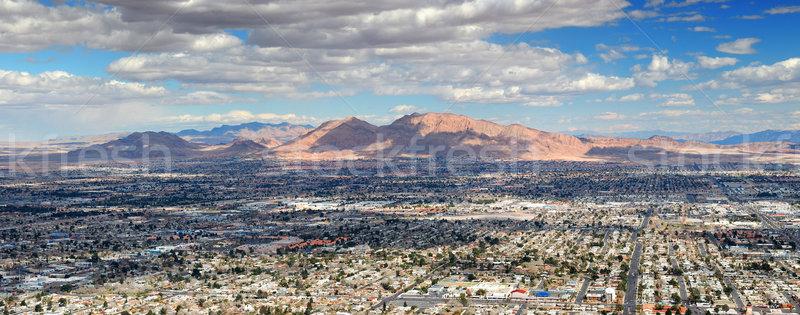 Las Vegas légi panoráma városkép hegy utcák Stock fotó © rabbit75_sto
