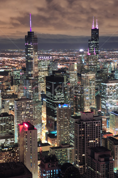 Сток-фото: Чикаго · городского · сумерки · Skyline · Панорама