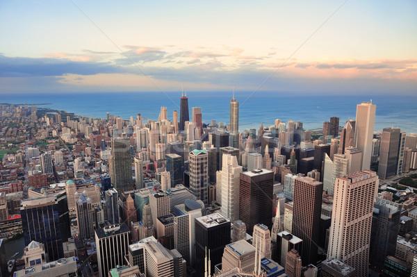 Chicago skyline at sunset Stock photo © rabbit75_sto