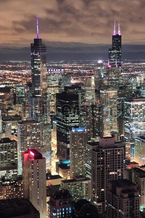 Chicago skyline panorama aerial view Stock photo © rabbit75_sto