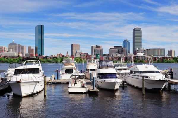 Boston stadsgezicht rivier stedelijke wolkenkrabbers Stockfoto © rabbit75_sto
