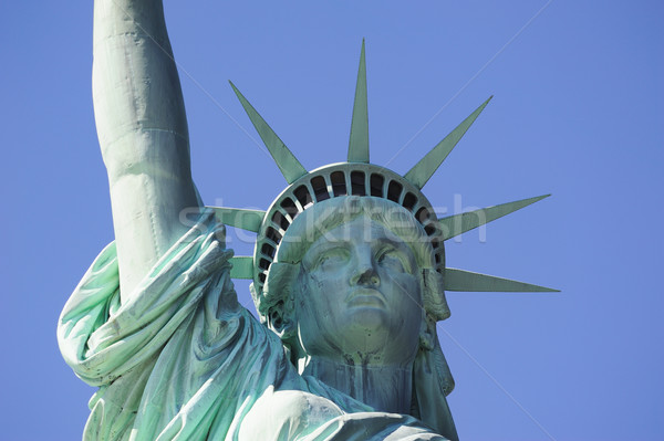 Photo stock: Statue · liberté · New · York · City · Manhattan · ciel · bleu