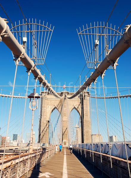 ニューヨーク市 マンハッタン 橋 クローズアップ 高層ビル ストックフォト © rabbit75_sto