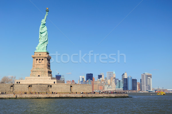New York City statue liberté visages Manhattan centre-ville Photo stock © rabbit75_sto