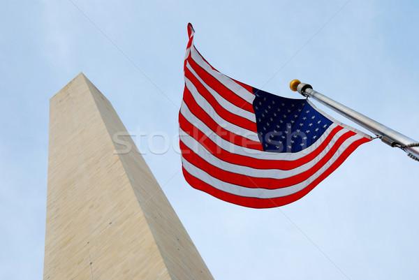 Bandiera Washington Monument mall Washington DC star volare Foto d'archivio © rabbit75_sto