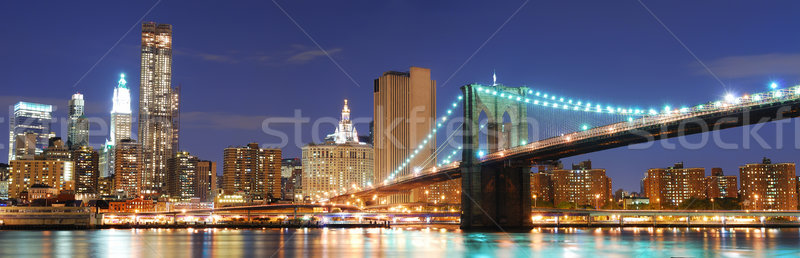 New York City Manhattan Skyline panorama pont bureau Photo stock © rabbit75_sto