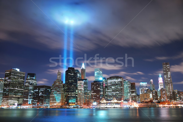 New York City Manhattan nacht panorama Stockfoto © rabbit75_sto