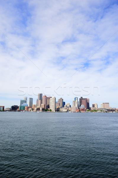 Boston skyline zee centrum stedelijke Stockfoto © rabbit75_sto
