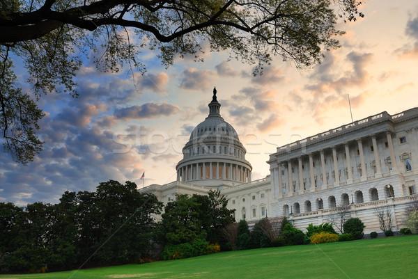 Washington DC Hill budynku rano kolorowy Chmura Zdjęcia stock © rabbit75_sto
