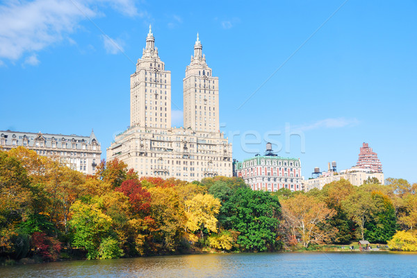 New York City manhattan Central Park panorama outono lago Foto stock © rabbit75_sto
