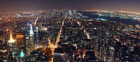 New York City panorama manhattan linha do horizonte noite Foto stock © rabbit75_sto