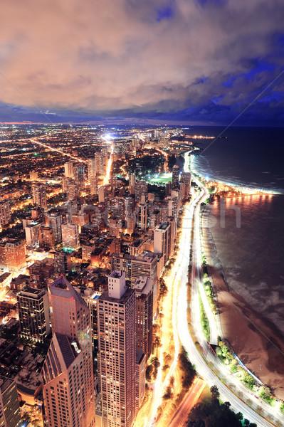 Chicago ufuk çizgisi panorama gökdelenler göl Stok fotoğraf © rabbit75_sto