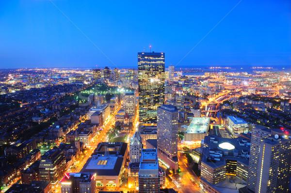 Boston horizonte anochecer rascacielos Foto stock © rabbit75_sto