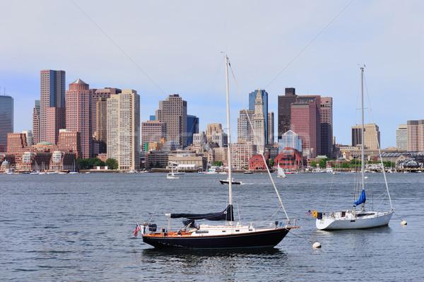 Urbano barco navegação Boston centro da cidade Foto stock © rabbit75_sto