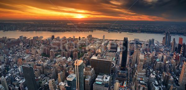 New York City sunset panorama Stock photo © rabbit75_sto