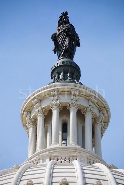 Foto stock: Estátua · liberdade · colina · Washington · DC · edifício · casa