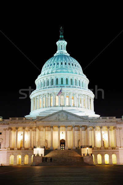 Heuvel gebouw verlicht nacht Washington DC licht Stockfoto © rabbit75_sto