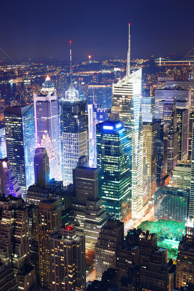 Times Square aerial view at night Stock photo © rabbit75_sto