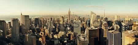 Photo stock: New · York · City · Skyline · panorama · Manhattan · ciel
