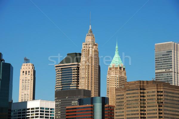 New York Manhattan sziluett történelmi iroda felhőkarcolók Stock fotó © rabbit75_sto