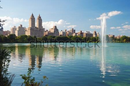 ニューヨーク市 セントラル·パーク 噴水 都市 マンハッタン スカイライン ストックフォト © rabbit75_sto
