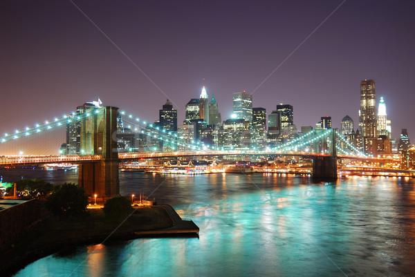 New York City Skyline at night Stock photo © rabbit75_sto