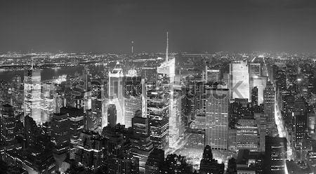 New York Manhattan Times Square sziluett légifelvétel panoráma Stock fotó © rabbit75_sto