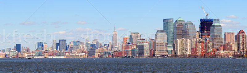 New York City Manhattan centrum skyline panorama Stockfoto © rabbit75_sto
