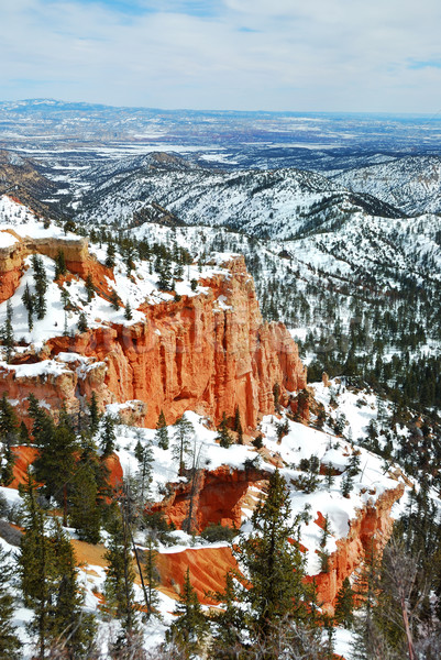 Stock photo: Bryce Canyon with snow in winter.