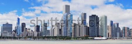 Chicago Stadt Innenstadt städtischen Skyline Wolkenkratzer Stock foto © rabbit75_sto