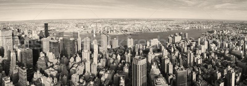 New York City Manhattan panorama aerial view Stock photo © rabbit75_sto