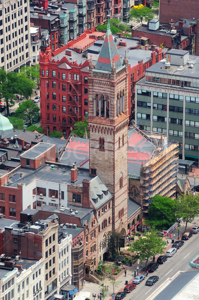 Boston straat luchtfoto centrum historische architectuur Stockfoto © rabbit75_sto