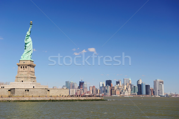 Statue liberté New York City île Manhattan centre-ville Photo stock © rabbit75_sto