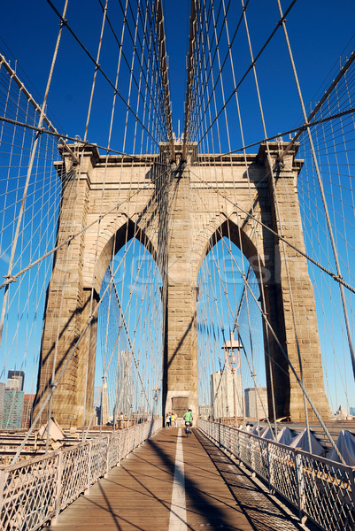 Manhattan Brooklyn Bridge closeup Stock photo © rabbit75_sto