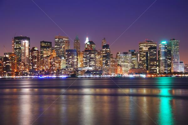 NEW YORK CITY DOWNTOWN AT NIGHT  Stock photo © rabbit75_sto