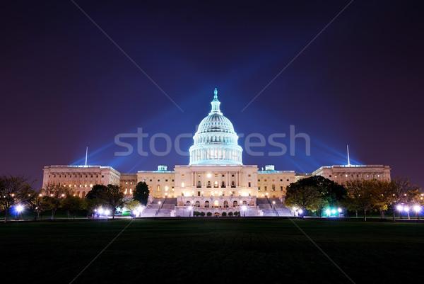 Washington DC colina edifício noite luz Foto stock © rabbit75_sto