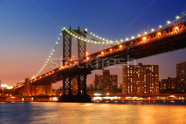 Manhattan Bridge sunset New York City Stock photo © rabbit75_sto