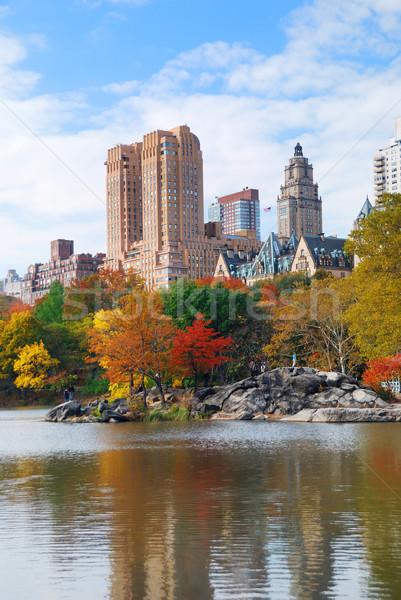 ニューヨーク市 マンハッタン セントラル·パーク パノラマ 秋 湖 ストックフォト © rabbit75_sto