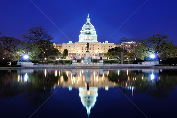 Washington DC deal constructii amurg lac reflecţie Imagine de stoc © rabbit75_sto