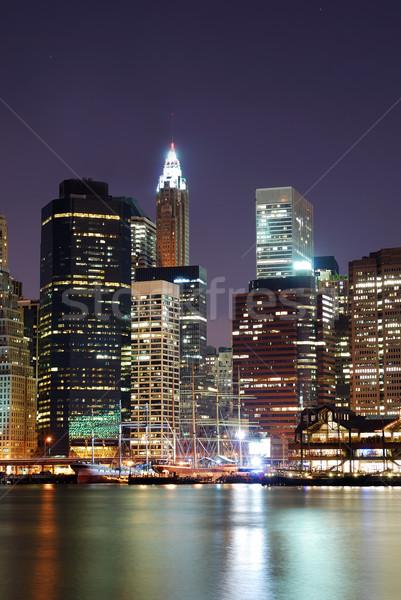 Manhattan wieżowce Nowy Jork panoramę biuro budynku Zdjęcia stock © rabbit75_sto