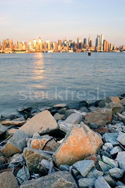 New York City Manhattan at Hudson River Shore Stock photo © rabbit75_sto